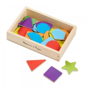 Melissa & Doug 25 Wooden Shape and Color Magnets in a Box Clearance Sale