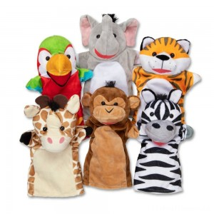 Melissa & Doug Safari Buddies Hand Puppets Clearance Sale