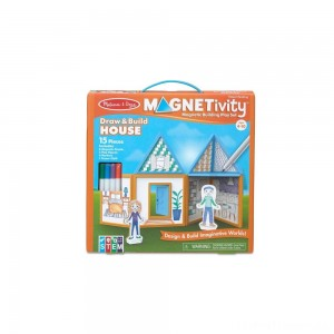 Melissa & Doug Magnetivity - Draw & Build House Clearance Sale