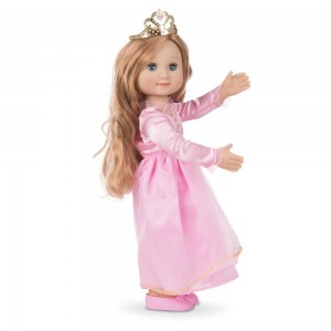 Melissa & Doug Celeste 14-Inch Poseable Princess Doll With Pink Gown and Tiara Clearance Sale