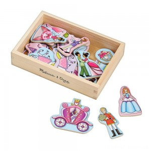 Melissa & Doug 20 Wooden Princess Magnets in a Box Clearance Sale