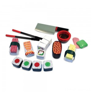 Melissa & Doug Sushi Slicing Wooden Play Food Set Clearance Sale