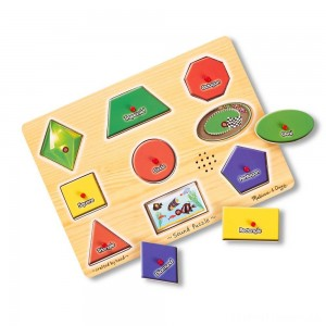 Melissa & Doug Assorted Shapes Sound Puzzle Set - 9pc Clearance Sale