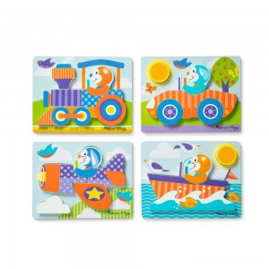 Melissa & Doug First Play 6pc Jigsaw Puzzle Set Vehicles Clearance Sale