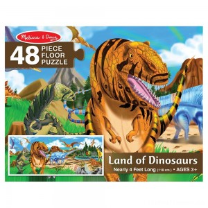 Melissa And Doug Land Of Dinosaurs Floor Puzzle 48pc Clearance Sale