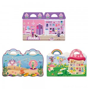 Melissa & Doug Puffy Sticker Pads Set: Fairy, Dress-Up, and Mermaid - 216 Reusable Stickers Clearance Sale
