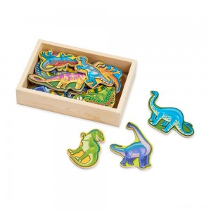Melissa & Doug Magnetic Wooden Dinosaurs with Wooden Tray - 20pc Clearance Sale