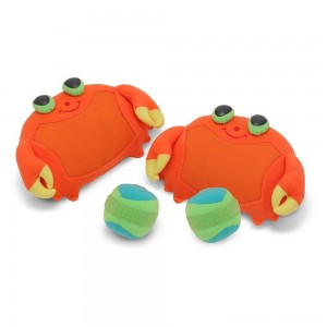 Melissa & Doug Sunny Patch Clicker Crab Toss and Grip Catching Game With 2 Balls Clearance Sale