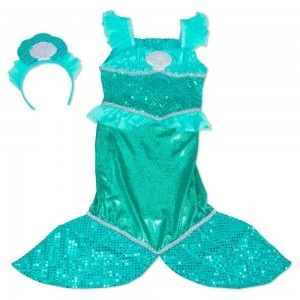 Melissa & Doug Mermaid Role Play Costume Set - Gown With Flaired Tail, Seashell Tiara, Women's Clearance Sale