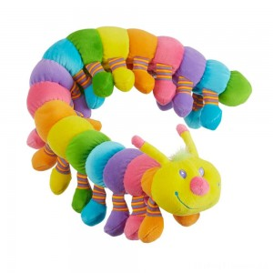 Melissa & Doug Longfellow Caterpillar - Rainbow-Colored Stuffed Animal With 32 Floppy Feet (over 2 feet long) Clearance Sale