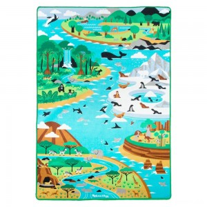 "Melissa & Doug Jumbo Habitats Activity Rug, 58 x 79"" Clearance Sale"