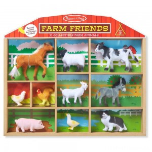 Melissa & Doug Farm Friends - 10 Collectible Farm Animals Clearance Sale
