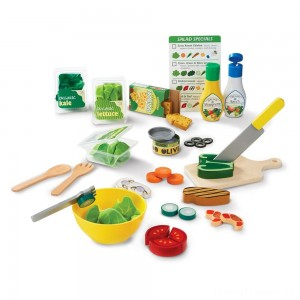 Melissa & Doug Slice and Toss Salad Play Food Set - 52pc Wooden and Felt Clearance Sale