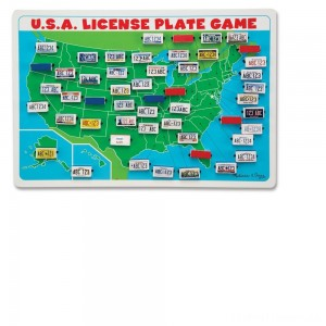 Melissa & Doug Flip to Win Travel License Plate Game, Kids Unisex Clearance Sale