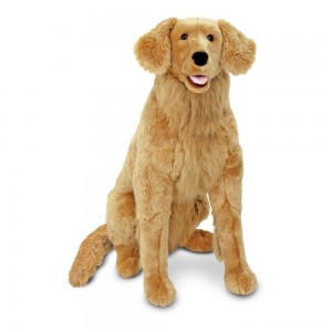 Melissa & Doug Giant Golden Retriever - Lifelike Stuffed Animal Dog (over 2 feet tall) Clearance Sale