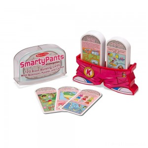 Melissa & Doug Smarty Pants Kindergarten Card Set - 120 Educational, Brain-Building Questions, Puzzles, and Games, Kids Unisex Clearance Sale