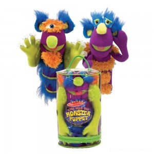 Melissa & Doug Make-Your-Own Fuzzy Monster Puppet Kit With Carrying Case (30pc) Clearance Sale