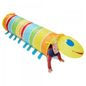 Melissa & Doug Sunny Patch Giddy Buggy Crawl-Through Tunnel (almost 5 feet long) Clearance Sale