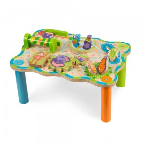 Melissa & Doug First Play Childrens Jungle Wooden Activity Table for Toddlers Clearance Sale