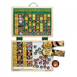 Melissa & Doug Deluxe Wooden Magnetic Responsibility Chart With 90 Magnets Clearance Sale