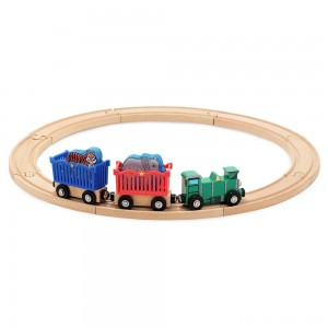 Melissa & Doug Zoo Animal Wooden Train Set (12+pc) Clearance Sale