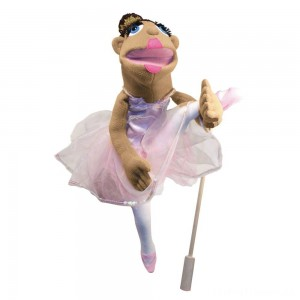 Melissa & Doug Ballerina Puppet - Full-Body With Detachable Wooden Rod for Animated Gestures Clearance Sale