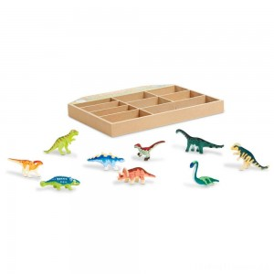 Melissa & Doug Dinosaur Party Play Set - 9 Collectible Miniature Dinosaurs in a Case Clearance Sale