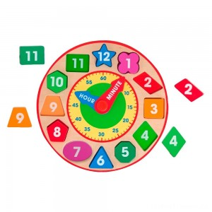 Melissa & Doug Shape Sorting Clock - Wooden Educational Toy Clearance Sale