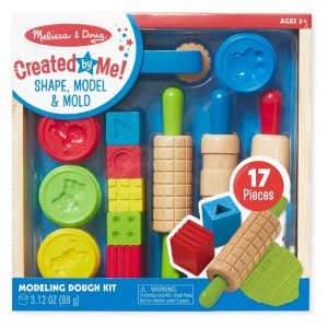 Melissa & Doug Shape, Model, and Mold Clay Activity Set - 4 Tubs of Modeling Dough and Tools Clearance Sale