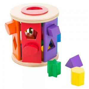 Melissa & Doug Match and Roll Shape Sorter - Classic Wooden Toy Clearance Sale