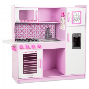 Melissa & Doug Chef's Kitchen Pretend Play Set - Cupcake Pink/White Clearance Sale