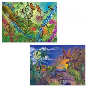 Melissa And Doug Bugs And Dinosaurs Puzzles 120pc Clearance Sale