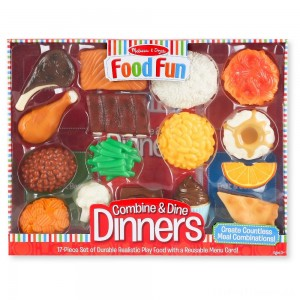 Melissa & Doug Food Fun Combine & Dine Dinners - Red Clearance Sale