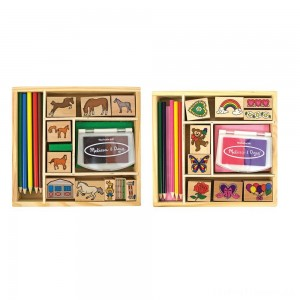 Melissa & Doug Wooden Stamp Sets (2): Friendship and Horses Clearance Sale