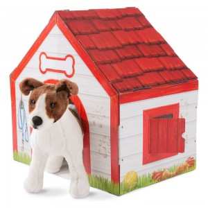 Melissa & Doug Doghouse Plush Pet Playhouse Clearance Sale