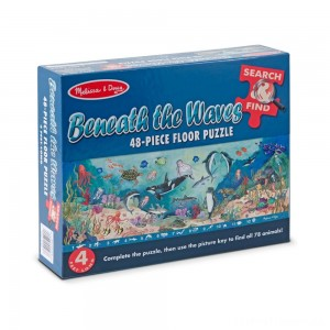 Melissa And Doug Search And Find Beneath The Waves Floor Puzzle 48pc Clearance Sale
