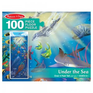 Melissa And Doug Under The Sea Jumbo Floor Puzzle 100pc Clearance Sale