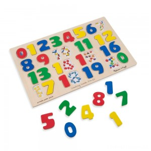Melissa & Doug Numbers 0-20 Wooden Puzzle (21pc) 32pc Clearance Sale