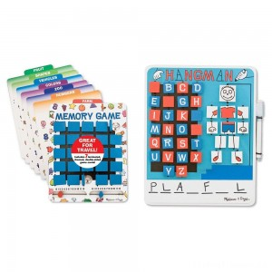 Melissa & Doug Flip to Win Set - Memory Game and Hangman Clearance Sale