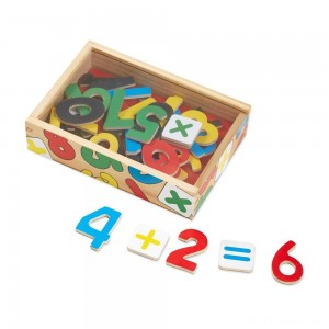 Melissa & Doug 37 Wooden Number Magnets in a Box Clearance Sale