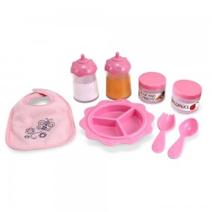 Melissa & Doug Mine to Love Time to Eat Doll 8 pc Accessories Feeding Set Clearance Sale