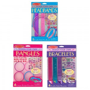 Melissa & Doug Design-Your-Own Jewelry-Making Kits - Bangles, Headbands, and Bracelets Clearance Sale