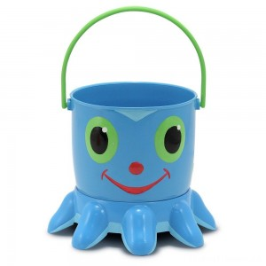 Melissa & Doug Sunny Patch Flex Octopus Sand Pail and Sifter Clearance Sale