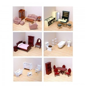 Melissa & Doug Classic Victorian Wooden and Upholstered Dollhouse Furniture (35pc) Clearance Sale