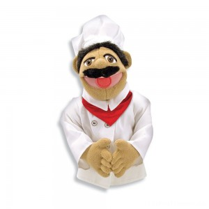 Melissa & Doug Chef Puppet With Detachable Wooden Rod Clearance Sale