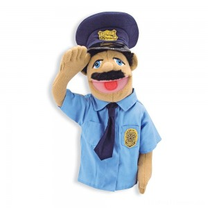 Melissa & Doug Police Officer Puppet With Detachable Wooden Rod Clearance Sale