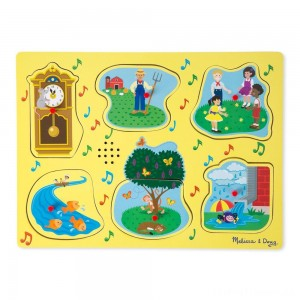 Melissa & Doug Nursery Rhymes 1 - Sound Puzzle 6pc Clearance Sale