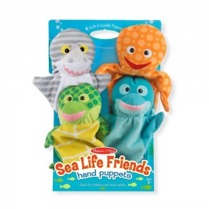 Melissa & Doug Sea Life Friends Hand Puppets Clearance Sale