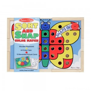 Melissa & Doug Sort and Snap Color Match - Sorting and Patterns Educational Toy Clearance Sale