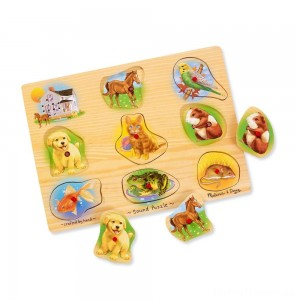 Melissa & Doug Assorted Pets Sound Puzzle Set - 9pc Clearance Sale